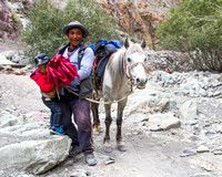 Ladakhi Father and Son with their pony